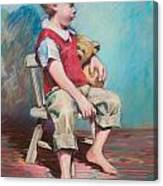 Boy In Chair Canvas Print