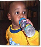 Boy With Bottle Canvas Print