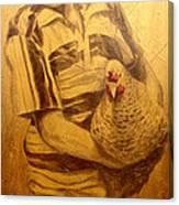 Boy With Chicken Canvas Print