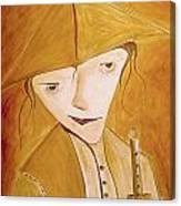 Boy With Flute 413-08-13 Marucii Canvas Print