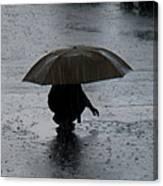 Boy With Umbrella Canvas Print