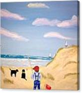 Boys At Sea Canvas Print