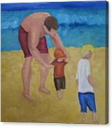 Paul, Brady Gavin At The Beach Canvas Print