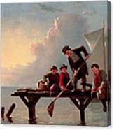 Boys Crabbing Canvas Print