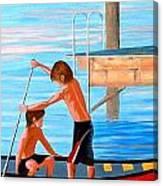 Boys On The Bay Canvas Print