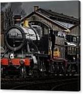 Br Steam Train And Gwr Pannier Tank Canvas Print
