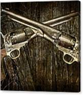 Brace Of Colt Navy Revolvers Canvas Print