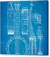 Bradbury Banjo Patent Art 1882 Blueprint Canvas Print