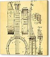 Bradbury Banjo Patent Art 1882 Canvas Print
