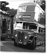Bradford Bus In Mono  Canvas Print