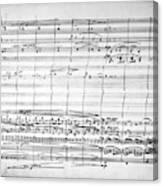 Brahms Manuscript, 1880 Canvas Print
