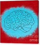 Brain Blue Canvas Print