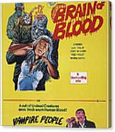 Brain Of Blood With Vampire People, Us Canvas Print