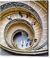 Bramante Spiral Staircase In Vatican City Canvas Print