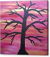 Branching Out Silhouette  Canvas Print
