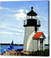 Brant Point Lighthouse Nantucket Massachusetts Canvas Print