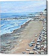 Brant Rock At High Tide Canvas Print