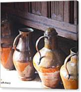 Brass Pots From 16th Century Columbus Home Canvas Print