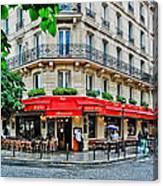 Brasserie De L'isle St. Louis Paris Canvas Print
