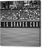Braves Country Canvas Print