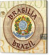 Brazil Coat Of Arms Canvas Print