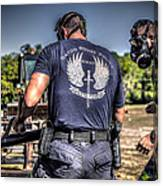 Breaching With Baton Rouge Swat Canvas Print