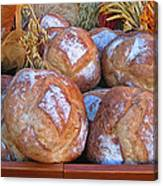 Bread At A French Market Canvas Print