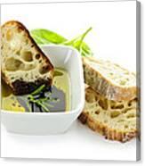 Bread Olive Oil And Vinegar Canvas Print