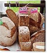 Bread On Local Market Canvas Print