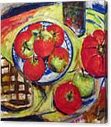 Bread Tomato And Apples Canvas Print