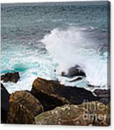 Breakers And Rocks Canvas Print