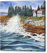 Breakers At Pemaquid Canvas Print