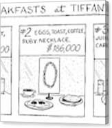Breakfast At Tiffany's Canvas Print