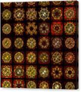 Breakfast Bagels Dingbat Quilt Canvas Print