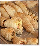 Breakfast Croissant Canvas Print
