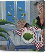 Breakfast In Barbados 1989 Canvas Print