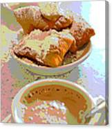 Breakfast Of Champions At Cafe Du Monde Canvas Print
