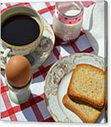 Breakfast On A Table Canvas Print