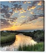 Breaking Dawn Along The Bayou Canvas Print