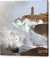 Breaking Of Waves Canvas Print