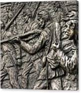 Breaking The Advance.  State Of Delaware Monument Detail-l1 Gettysburg Autumn Mid-day. Canvas Print