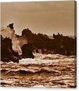 Breaking Waves-big Island Hawaii Canvas Print