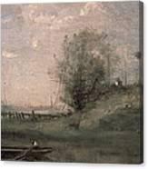 Breakwater, Normandy Canvas Print