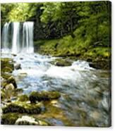 Brecon Waterfall Canvas Print