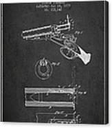 Breech Loading Shotgun Patent Drawing From 1879 - Dark Canvas Print