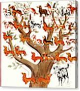 Breeds Tree Canvas Print