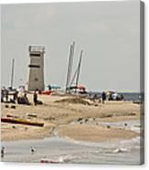 Breezy Point Lighthouse Bayside Canvas Print
