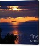 Brela Sunset Croatia Canvas Print
