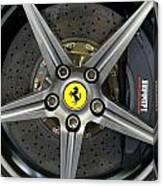 Brembo Carbon Ceramic Brake On A Ferrari F12 Berlinetta Canvas Print