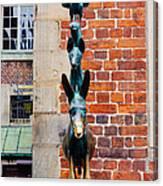 Bremen Musicians Statue Canvas Print